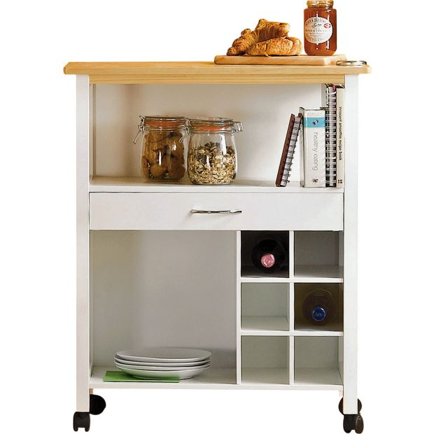 Kitchen Trolley Accessories: Buy HOME Kitchen Trolley With Wine Rack At Argos.co.uk
