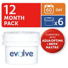 more details on Aqua Optima Evolve 60 Day Water Filter - 6 Pack.