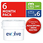 more details on Aqua Optima Evolve 30 Day Water Filter - 6 Pack.