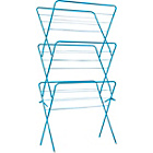 more details on ColourMatch 3 Tier Indoor Clothes Airer - Fiesta Blue.