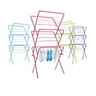more details on ColourMatch 3 Tier Indoor Clothes Airer - Funky Fuchsia.