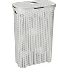 more details on Curver 40 Litre Rattan Hamper Vintage White.