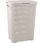 more details on Curver 60 Litre Rattan Hamper Vintage White.