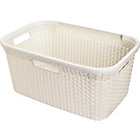 more details on Curver 45 Litre Rattan Style Laundry Basket - Cream.