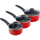 more details on Non-Stick Aluminium 3 Piece Pan Set - Red.