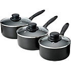 more details on Non-Stick Aluminium 3 Piece Pan Set - Black.