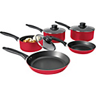 more details on Non-Stick Aluminium 5 Piece Pan Set - Red.