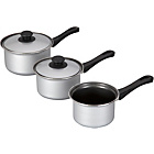 more details on Argos Value Range Non-Stick Carbon Steel 3 Piece Pan Set.