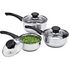 more details on Argos Value Range Stainless Steel 3 Piece Pan Set.