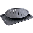 more details on HOME 2 Piece Non-Stick Pizza Pan and Oven Chip Tray Set.