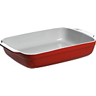 more details on Large Red Rectangular Dish.