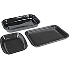 more details on Swan V Enamel Non-Stick Roaster and Set of 2 Trays.