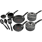 more details on Tefal Non-Stick Aluminium 9 Piece Pan Set - Black.