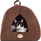 more details on Faux Suede Pyramid Cat Bed - Brown.
