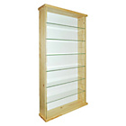 more details on Solid Wood and Glass Display Unit - Pine.