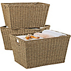 more details on HOME Set of 3 Large Seagrass Storage Baskets - Natural.