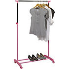 more details on HOME Adjustable Chrome Plated Clothes Rail - Pink.