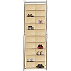 more details on HOME Silver X Frame Canvas 20 Pocket Shoe Storage Unit-Cream