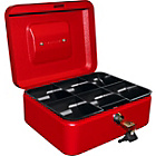 more details on 8 Inch Lockable Cash Box - Red.