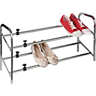 more details on HOME 2 Tier Extendable Shoe Storage Rack - Chrome Plated.
