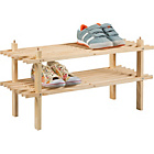 more details on Simple Value 2 Shelf Shoe Storage Rack - Solid Pine.