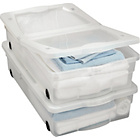 more details on 50 Litre Wheeled Plastic Underbed Storage Boxes - Set of 2.