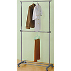 more details on HOME Adjustable Chrome Plated 2 Tier Clothes Rail - Grey.