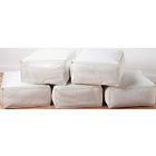 more details on HOME Set of 5 Bumper Value Blanket Storage Bags - Cream.
