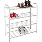 more details on HOME 4 Tier Shoe Storage Rack - White.