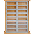 more details on DVD and CD Sliding Glass Door Storage Unit - Oak Effect.
