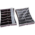 more details on HOME Set of 2 Underbed Shoe Storage Boxes with Lid.