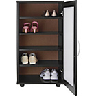 more details on Contemporary Shoe Storage Cabinet - Black.