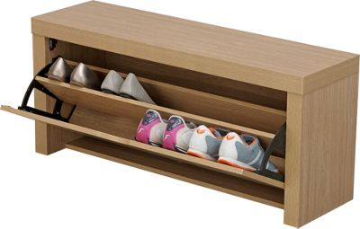 Buy Home Cuban Shoe Storage Cabinet Oak Effect At Argos