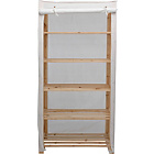 more details on Argos Value Range Polycotton and Wood 5 Shelf Unit - Cream.