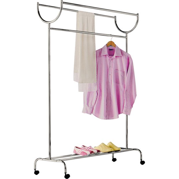 Buy home chrome plated clothes rail silver at - Bedroom furniture for hanging clothes ...