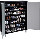 more details on Hygena Milan Storage Cabinet with Frosted Glass Doors -Black
