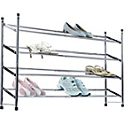 more details on HOME 4 Tier Extendable Shoe Storage Rack - Chrome Plated.