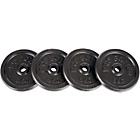 more details on Pro Power Set of 4 5kg Cast Iron Weight Discs.