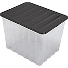 more details on HOME 110 Litre Supa Nova Plastic Storage Crate and Black Lid