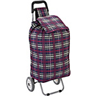 more details on 2 Wheel Adjustable Shopping Trolley - Navy Check.
