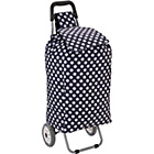 more details on 2 Wheel Polka Dot Shopping Trolley - Blue.