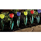 more details on Flower Solar Lights - Set of 6.