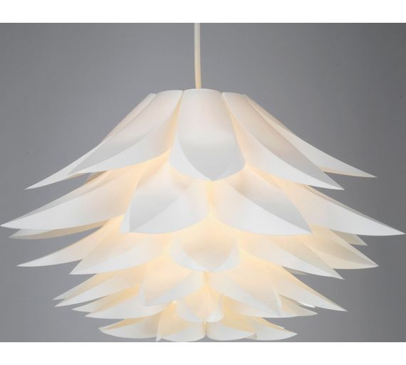 Ceiling Light Shade Argos : Buy collection lotus shade white at argos your