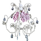 more details on Inspire Ashley Floral Pendant - White and Pink.