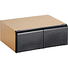 more details on HOME Stackable 36 DVD Media Storage Unit-Beech Effect/Black.