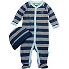 more details on Emma Bunton Baby Striped All in One and Hat.