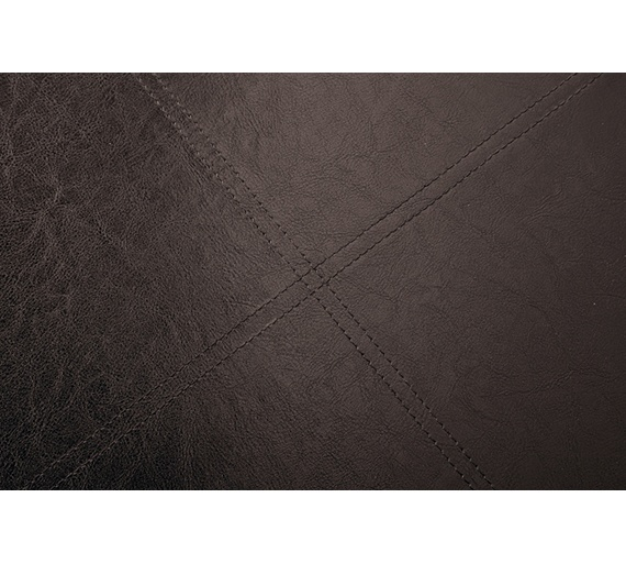 Buy Home Xl Leather Effect Ottoman With Stitching Detail