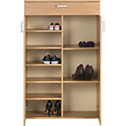more details on Venetia Tall Shoe Storage Cabinet - Oak Effect.