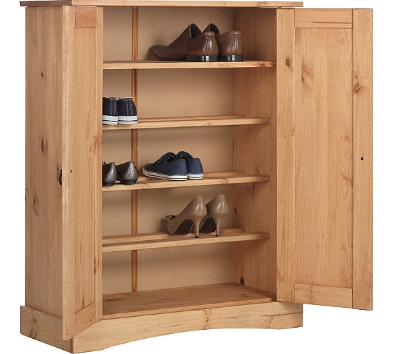 Buy Collection Puerto Rico Shoe Storage Cabinet Antique Pine At Your Online Shop