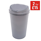 more details on 45 Litre Touch Top Kitchen Bin - Silver.